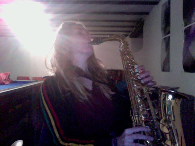 Sax in my Studio in Devon